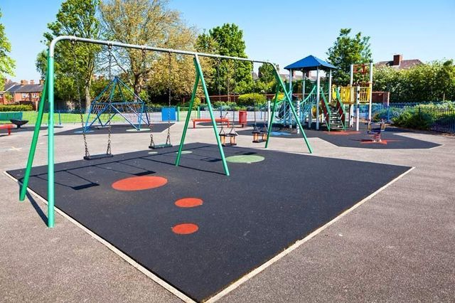 Resurfacing done for a playground