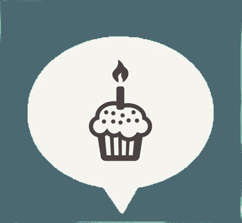 Icona della torta di compleanno a Viggiù