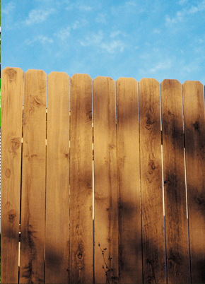 Featherboard fence