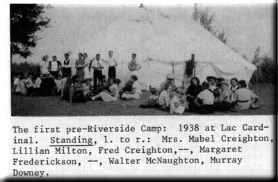 1938, Pre-Riverside Camp at Lac Cardinal