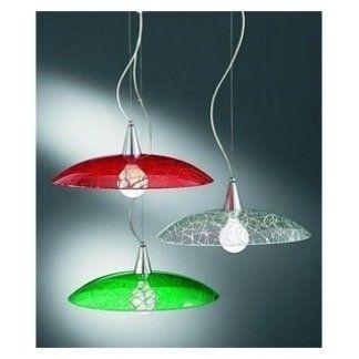 lampada a sospensione vetro colorato