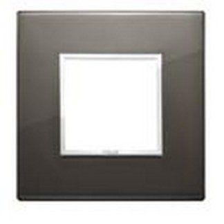 Eikon Evo Placca 2 moduli alluminio anodizzato