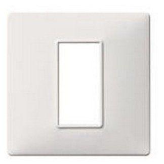 placca 1 modulo tecnopolimero bianco