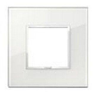 Eikon Evo Placca 2 moduli cristallo bianco