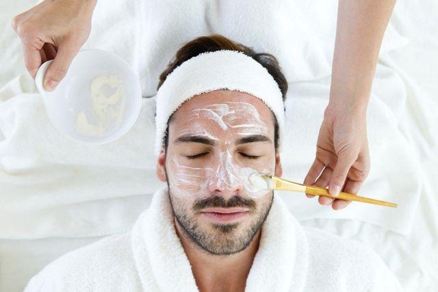 male waxing, facial