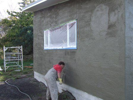 Plastering services for exterior walls