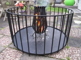 Iron fire place
