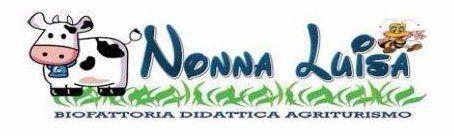 Logo del ristorante Nonna Luisa con l'icona di una mucca e un'ape