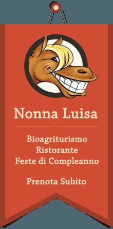 Logo del ristorante Nonna Luisa con l'icona del volto di un cavallo