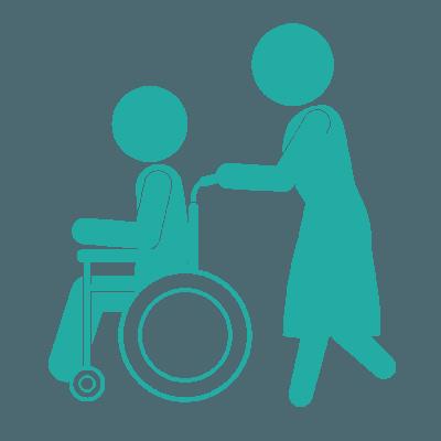icona assistene e disabile