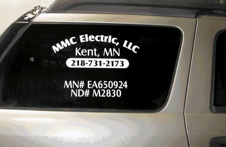 32dce5296a Logo on Window - vehicle wrap in Fargo