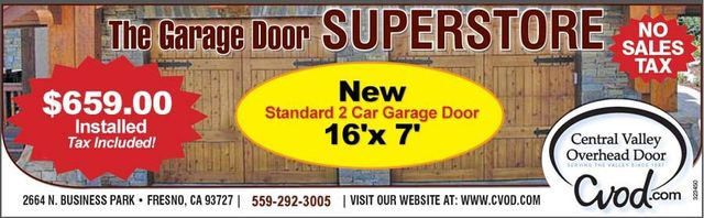 Merveilleux New Two Car Garage Door Offer