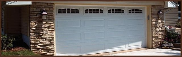 Incroyable White Economy Garage Door U2014 Overhead Doors Service In Fresno, CA