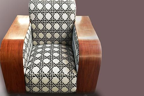 View of the re-upholstery work done by expert