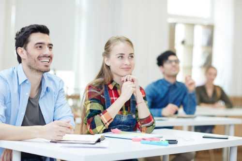 studenti durante lezione di recupero