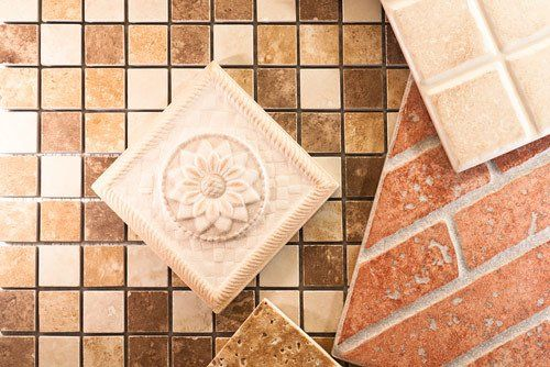 A variety of tiles from our tile showroom in Kirkcaldy