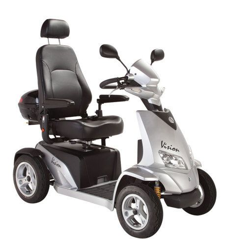 Grey and black scooter
