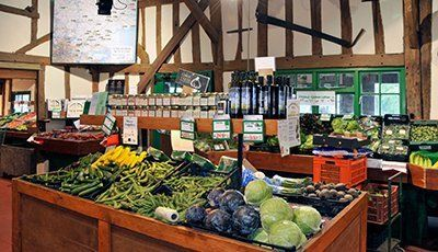 Farm shop interior