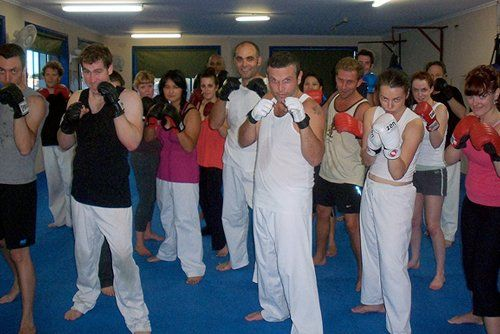View of training classes for Taekwondo