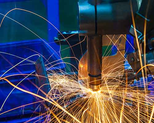 macchina industriale per la lavorazione del metallo