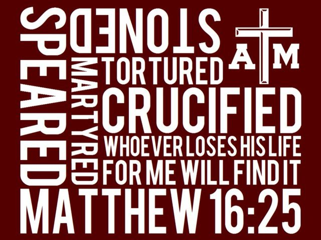 Association of Baptist Students Bible verse Matthew 16:25 graphic
