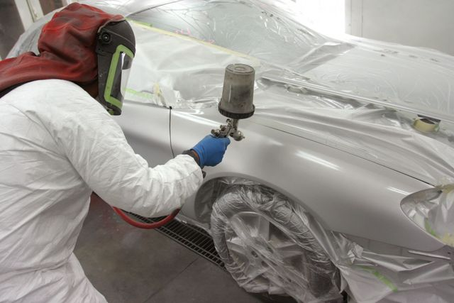 paint work on car