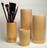 BAMBOO BRUSH VASE