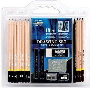 PRO ART 18 PC DRAWING SET