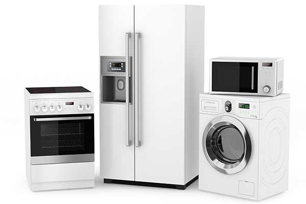 Group of household appliances in Bethel