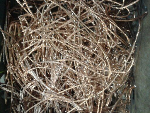 Piles of scrap metal