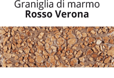 Graniglia di marmo Rosso Verona