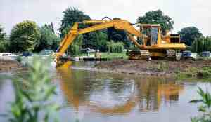 Commercial excavating services on the waterfront in Black Creek, WI