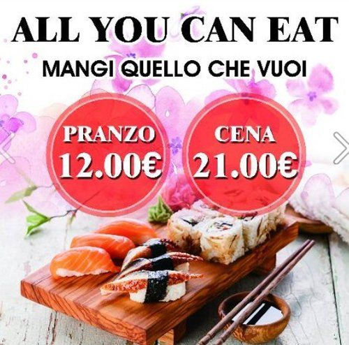All you can eat RISTORANTE GIAPPONESE CIZRU Novara