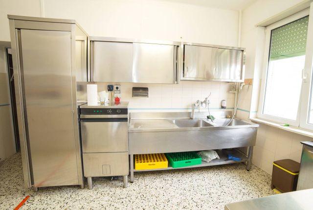 Frigofero industriale nella cucina di un ristorante ARTIGIANI FABIO FORNITURE RISTORAZIONI INDUSTRIALI a Mantova