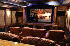 Projector home theater screen in Anchorage, AK