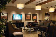 Living room equiped with best entertainment system products in Anchorage, AK