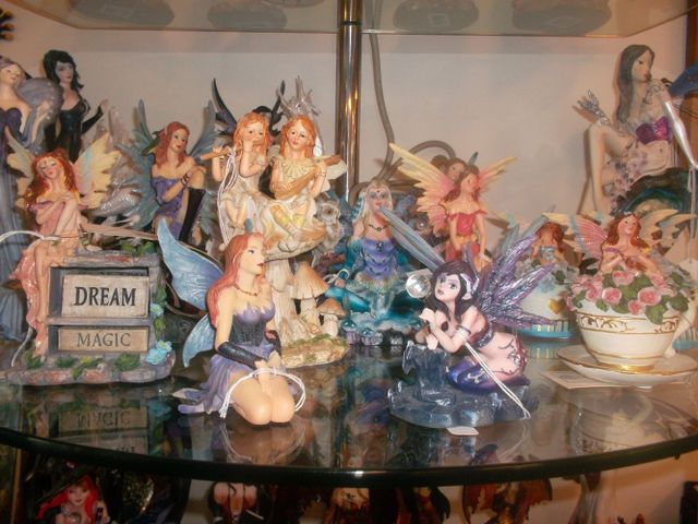 Glass fairy products on display in Auckland