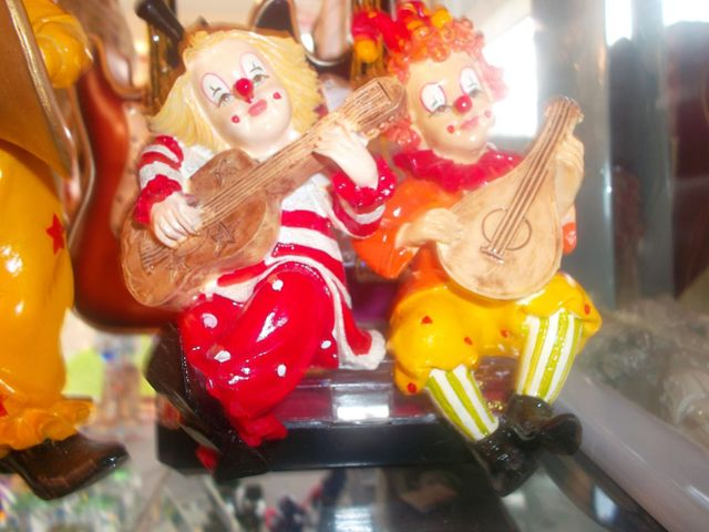 Clown glass ornamemts