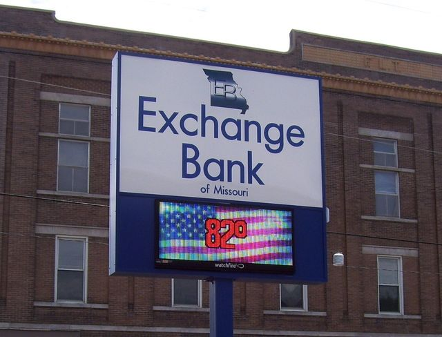 Exchange Bank sign