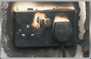 burnt socket