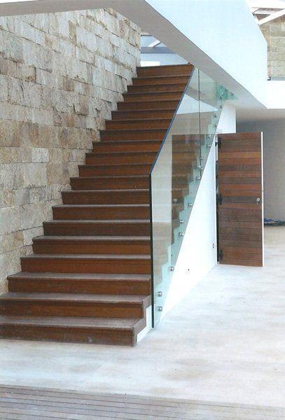realizzazione di una scala in legno e alluminio a Oricola, AQ