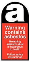 asbestos warning logo