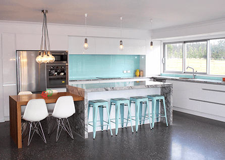 View of the kitchen design done by experts in Christchurch