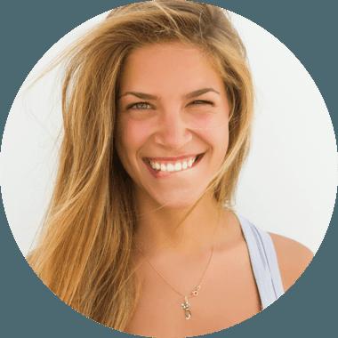 Woman enjoying life with here white teeth