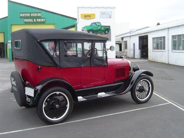 Old car after restoration in Palmerston North