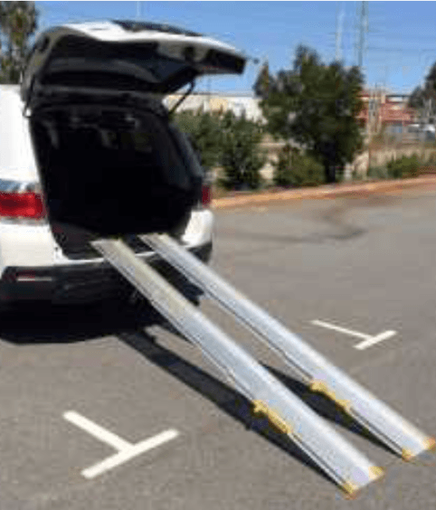 aluminium folding, access, doorway, telescopic, vehicle ramp, mobility scooters, electric wheelchairs, heavy duty, Nowra, Wollongong, Kiama, Shellharbour,