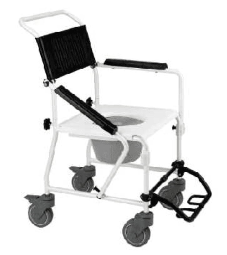 Aluminium, shower transport commode, strong, portable, over toilet aid,  independent living suplies Nowra, Wollongong, Kiama