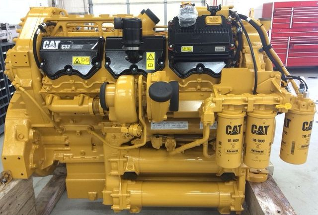 where is the serial number on a caterpillar engine