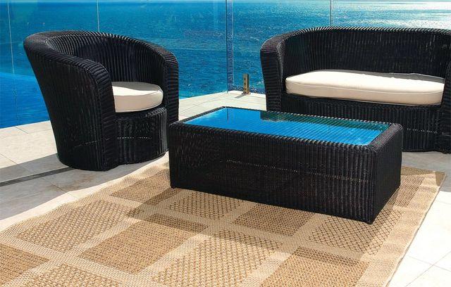 flatweave rug in a living room