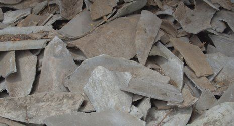 broken asbestos sheet